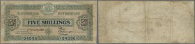 Solomon Islands: 5 Shillings January 2nd 1926, P.1, extremely rare note and a great addition to any collection. Very professionell restored along left...