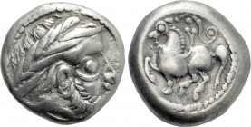 "EASTERN EUROPE. Imitations of Philip II of Macedon (2nd-1st centuries BC). Tetradrachm. ""Dachreiter"" type."