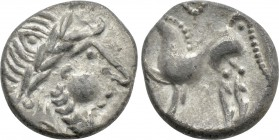 "EASTERN EUROPE. Imitations of Philip II of Macedon (2nd-1st centuries BC). Drachm. ""Kugelwange"" type."