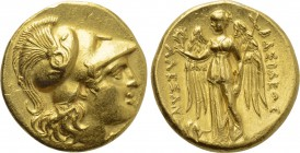 KINGS OF MACEDON. Alexander III 'the Great' (336-323 BC). GOLD Stater. Mesambria.