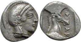 THESSALY. Pharsalos. Hemidrachm (Mid-late 5th century BC).