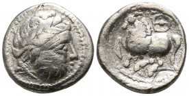 Eastern Europe. Imitation of Philip II of Macedon circa 200-0 BC. Drachm AR