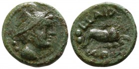 Lucania. Thourioi, as Copia circa 193-150 BC. Sextans Æ