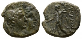 Bruttium. Rhegion Second Punic War, (circa 211-201 BC).. Tetrachalkon Æ