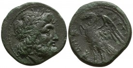 Bruttium. The Brettii circa 215-205 BC. Reduced Uncia Æ