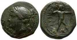 Bruttium. The Brettii circa 214-211 BC. Half Unit AE