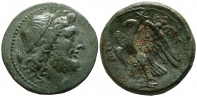 Bruttium. The Brettii circa 214-211 BC. Reduced Uncia Æ