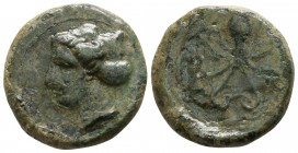 Sicily. Syracuse. Second Democracy circa 466-405 BC. Hexas AE