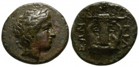 Macedon. Chalkidian League. Olynthos circa 432-348 BC. Bronze Æ