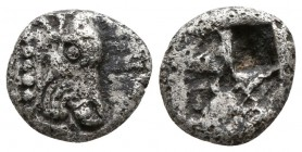 Macedon. Possibly Akanthos circa 500-400 BC. Obol AR