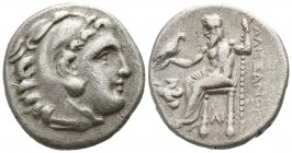 Kings of Macedon. Lampsakos. Antigonos I Monophthalmos 320-301 BC. Drachm AR