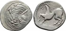 "EASTERN EUROPE. Imitations of Philip II of Macedon (2nd-1st centuries BC). Tetradrachm. ""Mit liegendem Achter"" type."