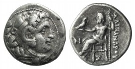 Kings of Macedon, Antigonos I Monophthalmos (Strategos of Asia, 320-306/5 BC, or king, 306/5-301 BC). AR Drachm (17mm, 4.23g, 12h). In the name and ty...