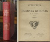 [Nanteuil.] Florange, J. & Ciani, L. Collection de monniaes grecques H. de Nanteuil. Paris, 1925. Two parts in one volume. Thick 4to., pp. xiv, 343, (...
