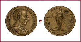 Padua, Luca Salvioni († 1536), STRUCK orichalcum medal, before 1536, 35.27 gr., 39 mm; opus: G. de Cavino, Luca Salvioni, jurist and antiquary in Padu...