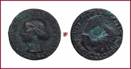 Rimini, Sigismondo Pandolfo Malatesta (1417-1468), lord of Rimini and Fano, later aftercast bronze medal, (1447), 16.09 gr., 31.5 mm; opus: M. de Past...