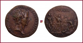 Venice, Vettore di Antonio Gambello, called Camelio (1455/60-1537), CONTEMPORARY CAST bronze medal, 1508, 36,26 g Cu/Ae, 37 mm, auto-portrait on Roman...
