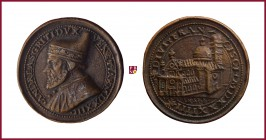 Venice, Andrea Gritti (1523-1539), STRUCK bronze medal, 1534, 25,98 g cu/Ae, 36 mm, opus: A. Spinelli, S. Francesco della Vigna Church, constructed by...