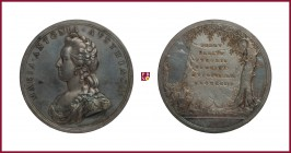 Austria, Marie Antoinette (1774-1792), queen of France, silver medal, 1793, 26,17 g Ag, 47 mm, opus: P. Baldenbach, Commemorative, bust left/Latin ins...