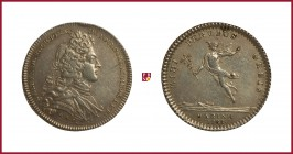 France, Louis Alexandre de Bourbon, Count of Toulouse, Admiral of France, son of Louis XIV, silver token, 1733, 5,91 g Ag, 29 mm, bust right/Hermes to...