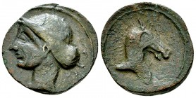 Punic Spain AE Unit, c. 237-209 BC 