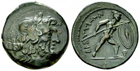 The Brettii AE Reduced Uncia, c. 211-208 BC 