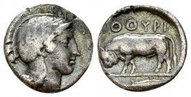 Thurium AR Diobol, c. 443-400 BC, rare 