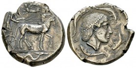 Syracuse AR Tetradrachm, c. 450-440 BC 