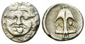 Apollonia Pontika AR Drachm, late 5th-4th centuries BC 