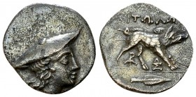 Aitolia AR Hemidrachm, c. 170-160 BC 