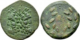 SICILY. Uncertain Roman mint. Ae As (Circa 200-190 BC).