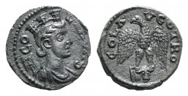 Troas, Alexandria. Pseudo-autonomous issue, c. mid 3rd century AD. Æ (20.5mm, 5.18g, 1h). Turreted and draped bust of Tyche r., with vexillum over sho...