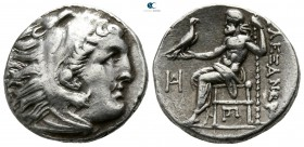 "Kings of Macedon. Teos. Alexander III ""the Great"" 336-323 BC. Struck circa 310-301 BC. Drachm AR"
