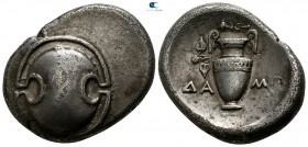 Boeotia. Thebes. ΔΑΜΩ-, magistrate circa 392 BC. Stater AR