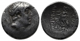 Kings of Cappadocia. Ariobarzanes I Philoromaios, 96-63 BC. AR Drachm (17mm, 3.95g). Diademed head right. / Athena standing left, holding Nike and spe...