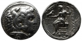 Kings of Macedon. Alexander III 'the Great', 336-323 BC. AR Tetradrachm (27mm, 16.84g). Ake mint. Dated CY 31 (316/5 BC). Head of Herakles right, wear...