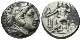 Kings of Macedon. Alexander III 'the Great'. 336-323 BC. AR Tetradrachm (24mm, 17.05g). 'Amphipolis' mint. Head of Herakles right, wearing lion skin. ...