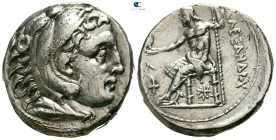 "Kings of Macedon. Amphipolis. Alexander III ""the Great"" 336-323 BC. Struck by Kassander, as regent or as King, circa 307-297 BC. Tetradrachm AR"