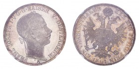 AUSTRIA. Franz Joseph, 1848-1916. Taler 1864-A, Vienna. Frühwald 1418, Herinek 449, Voglhuber 320. Sought after in this gem uncirculated condition. In...