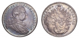 GERMANY: BAVARIA. Karl Theodor, 1777-99. Taler 1779, Munich. Dav-1967, KM563.2. Lovely deep blue toning with much less adjustment marks than is normal...
