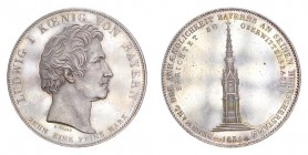 GERMANY: BAVARIA. Ludwig I, . Taler 1834, Munich. 28.06 g. Thun-64; J-46; AKS-131. Geschichtsthaler. Struck to commemorate the construction of the Mon...