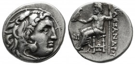 Kings Of Macedon. Alexander III 'the Great'. 336-323 BC. AR Drachm (18mm, 4.13g). Abydos mint, struck ca. 310-301 BC. Head of Herakles right, wearing ...