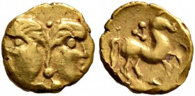 CELTIC, Central Europe. Vindelici. Late 3rd or very early 2nd century BC. 1/24 Stater (Gold, 7 mm, 0.30 g, 12 h), 'Januskopf I' type. Head of Janus wi...