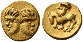 CELTIC, Central Europe. Vindelici. Late 3rd or very early 2nd century BC. 1/24 Stater (Gold, 7 mm, 0.34 g, 5 h), 'Januskopf II' type. Head of Janus wi...