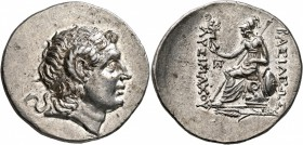 KINGS OF THRACE. Lysimachos, 305-281 BC. Tetradrachm (Silver, 32 mm, 17.12 g, 1 h), Kalchedon (?), circa 205-195. Diademed head of Alexander the Great...