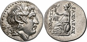 KINGS OF THRACE. Lysimachos, 305-281 BC. Tetradrachm (Silver, 31 mm, 17.20 g, 12 h), uncertain mint in western Asia Minor, circa 205-195. Diademed hea...
