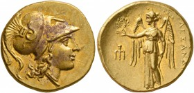 KINGS OF MACEDON. Alexander III 'the Great', 336-323 BC. Stater (Gold, 19 mm, 8.57 g, 2 h), Amphipolis, struck under Antipater, circa 325-319 BC. Head...