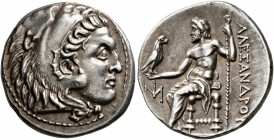 KINGS OF MACEDON. Alexander III 'the Great', 336-323 BC. Drachm (Silver, 19 mm, 4.26 g, 7 h), Miletos, circa 295-275. Head of Herakles to right, weari...