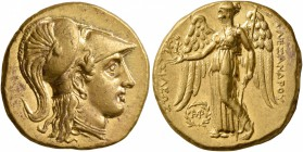 KINGS OF MACEDON. Alexander III 'the Great', 336-323 BC. Stater (Gold, 18 mm, 8.55 g, 3 h), Babylon I, struck under Seleukos I, circa 311-305 BC. Head...
