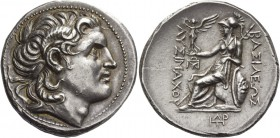 Kingdom of Thrace, Lysimachus, 323 – 281 and posthumous issues. Tetradrachm, Amphipolis circa 288-281, AR 17.06 g. Diademed head of deified Alexander ...